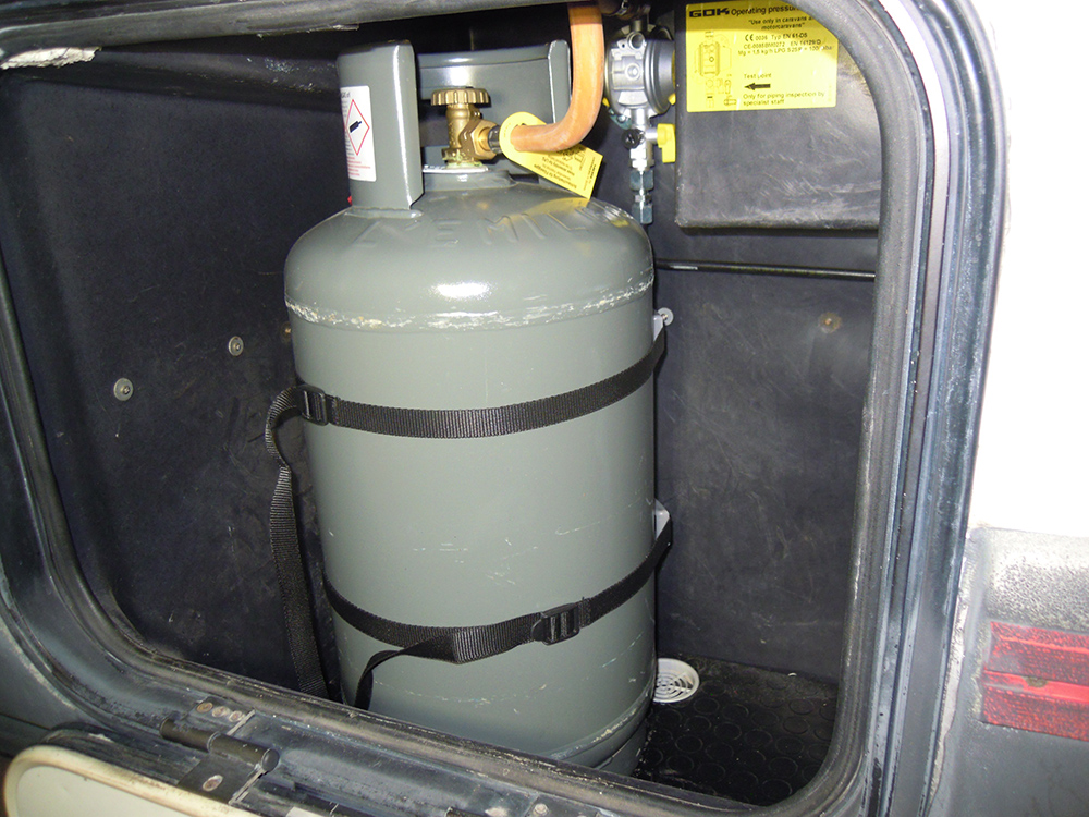Fai da te su impianti del gas di camper e roulotte - Bombole gas per cucina ...