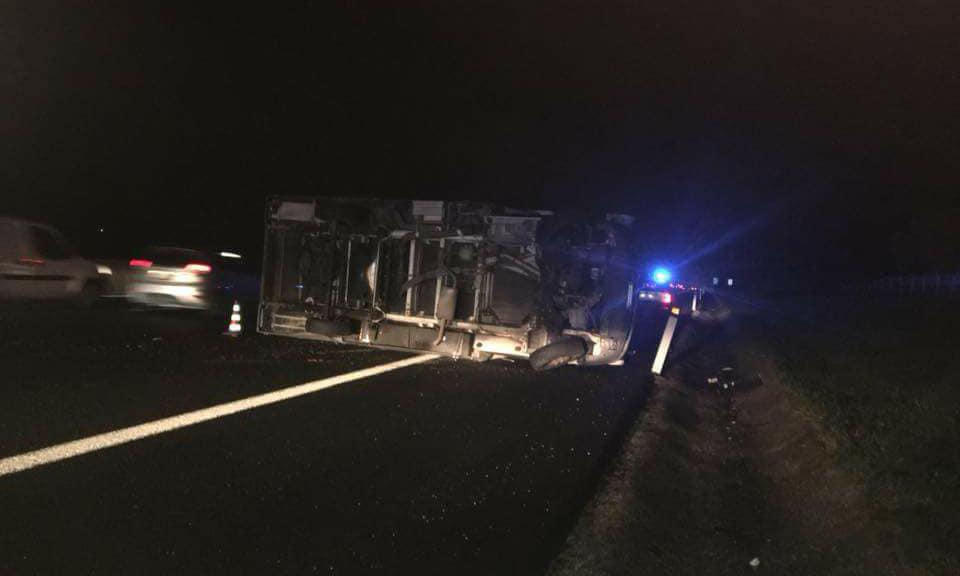 Camper ribaltato: incidente di capodanno sull'A1