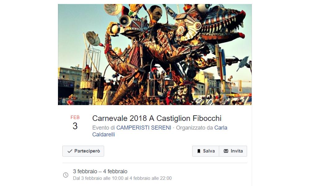 Raduno di Carnevale 2018 dei Camperisti Sereni