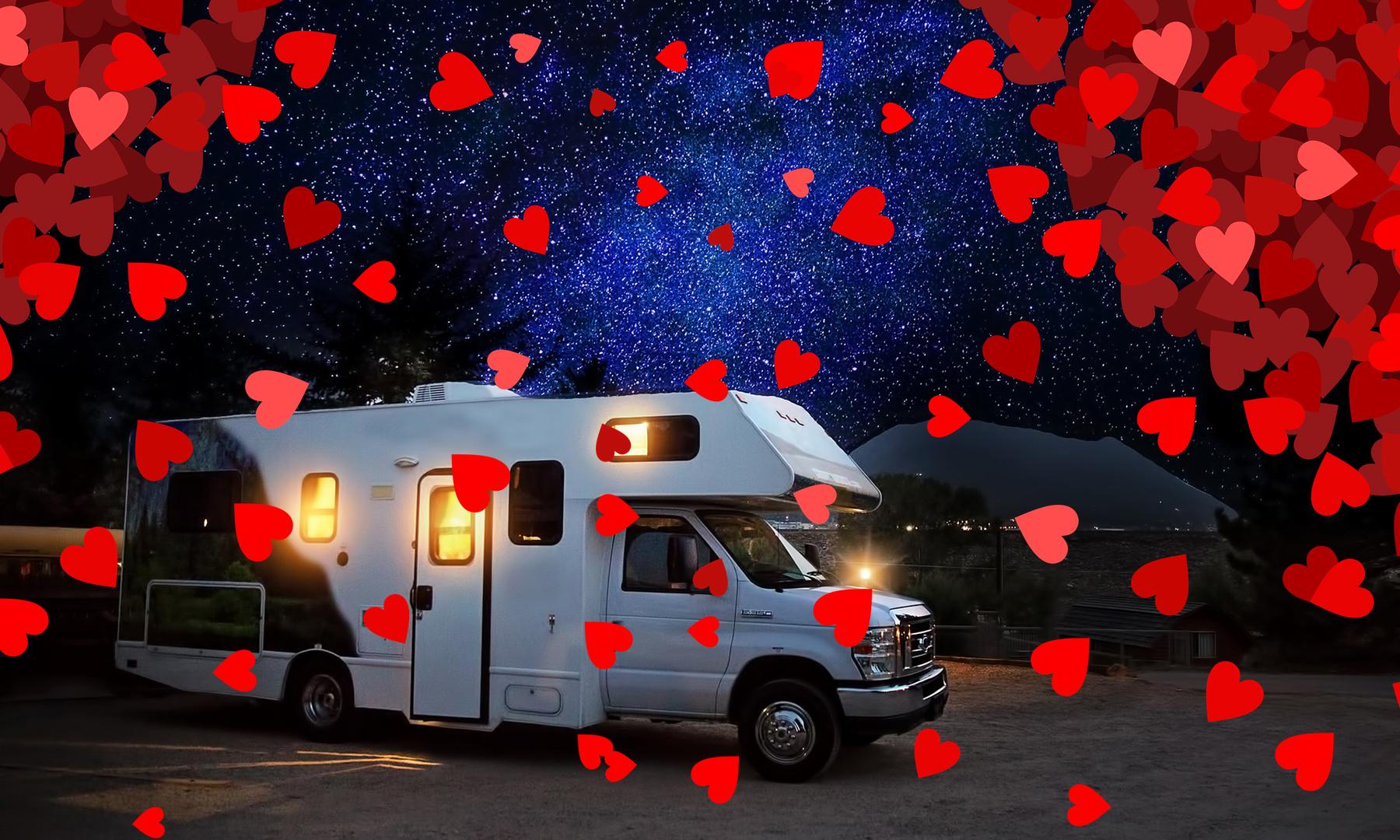 San Valentino, tre mete in camper