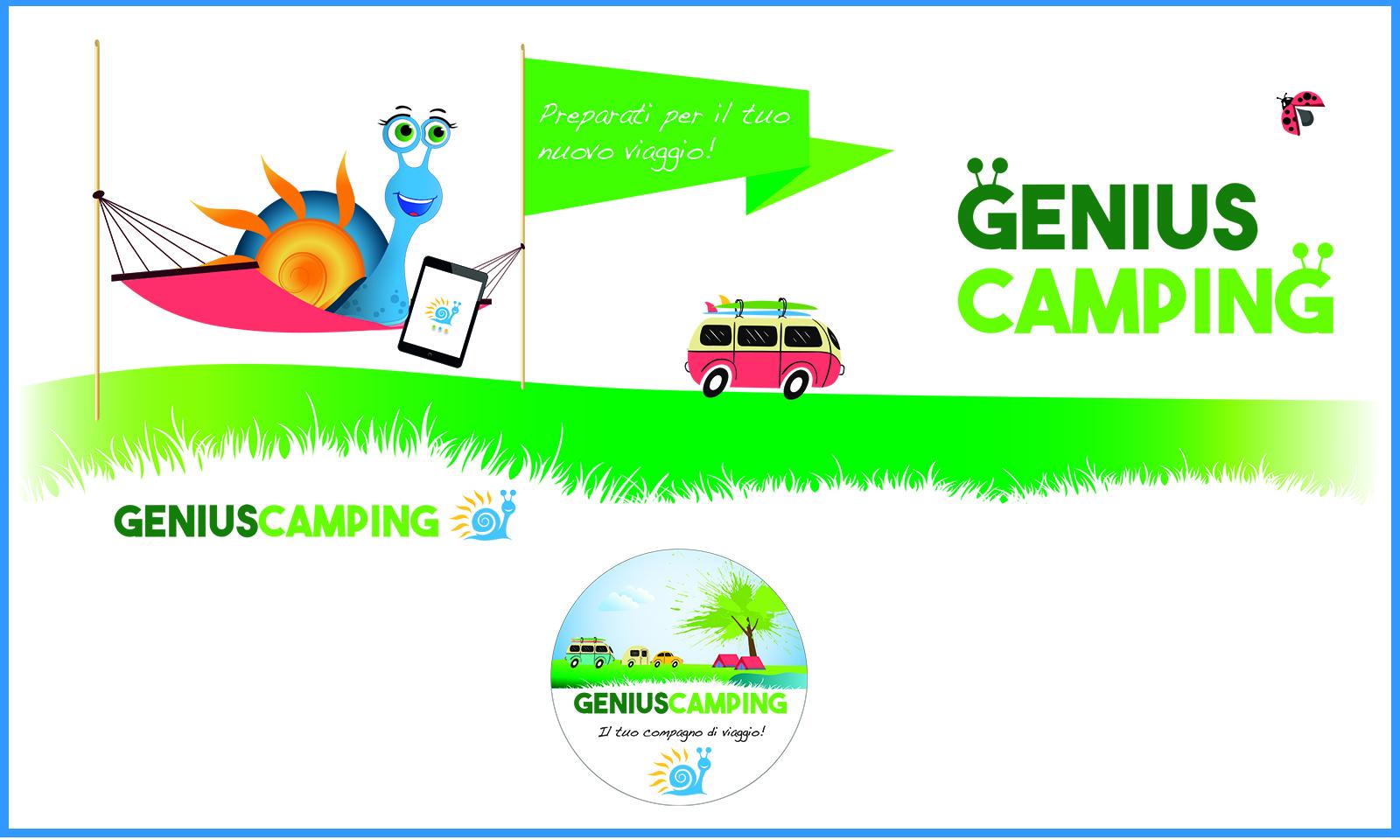 Genius Camping: adesivi e tazze mug