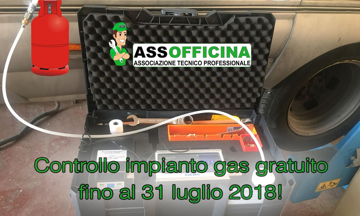 Controllo impianto gas gratis su camper e caravan fino al 31 luglio 2018