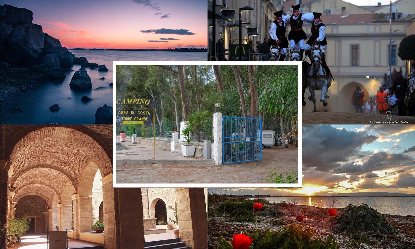 Area sosta camper Torre Grande ad Oristano, Sardegna: amore per il turismo in libertà a disposizione tutto l'anno