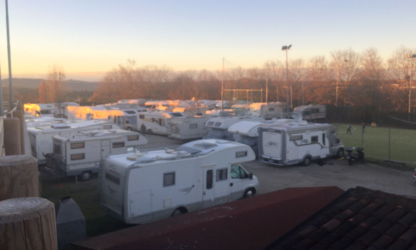 Govone e i mercatini di Natale in camper - Area camper Neive