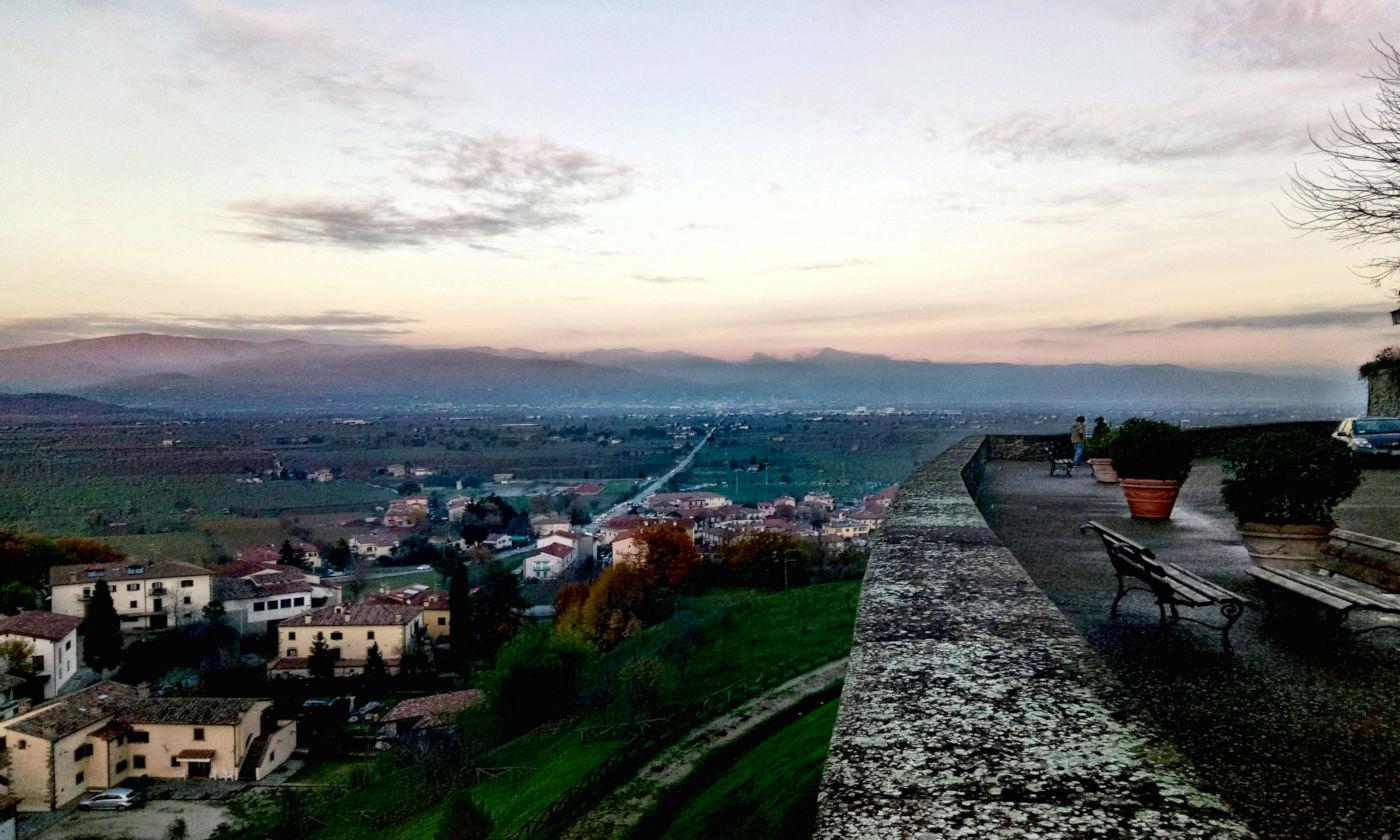 Toscana tra terme e borghi in caravan o camper - Anghiari panorama