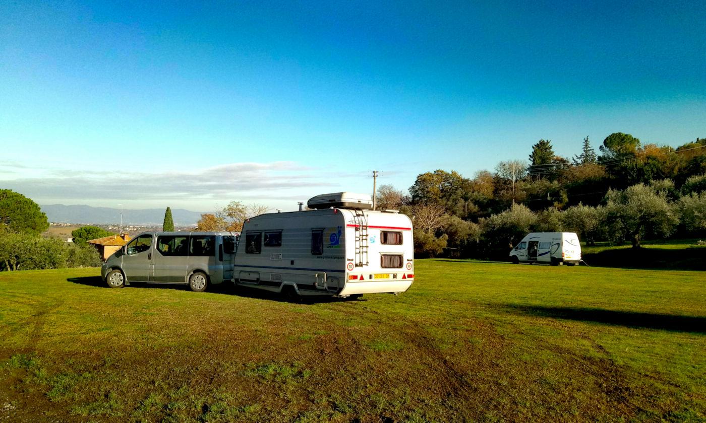 Toscana tra terme e borghi in caravan o camper - Area camper Luciniano