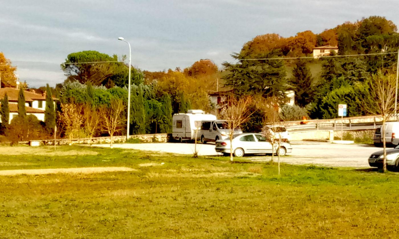 Toscana tra terme e borghi in caravan o camper - Area di sosta Asciano