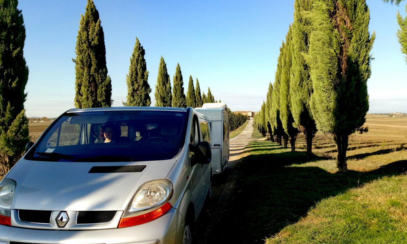 Toscana tra terme e borghi in caravan o camper - Strada Crete Senesi 3
