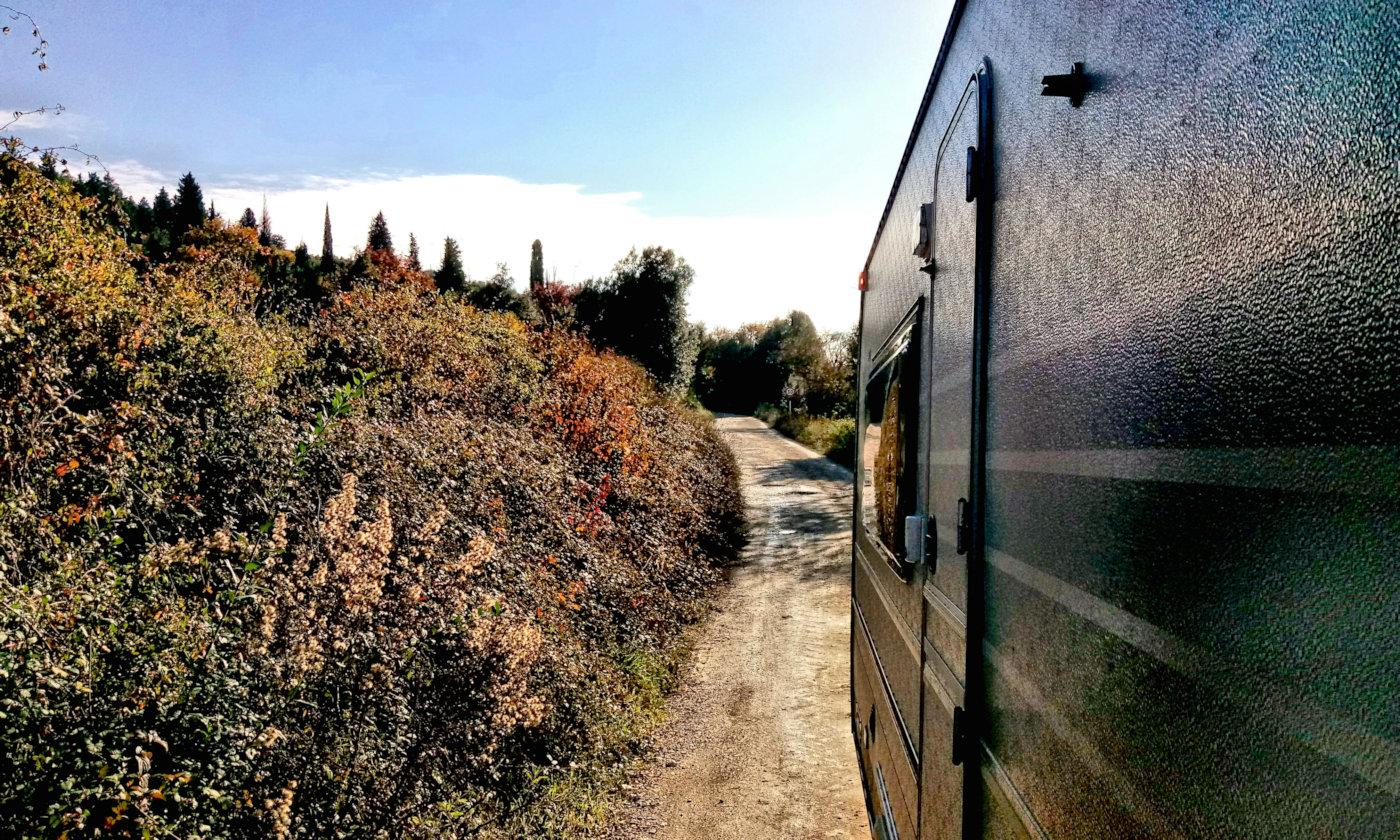 Toscana tra terme e borghi in caravan o camper - Strada Crete Senesi 4