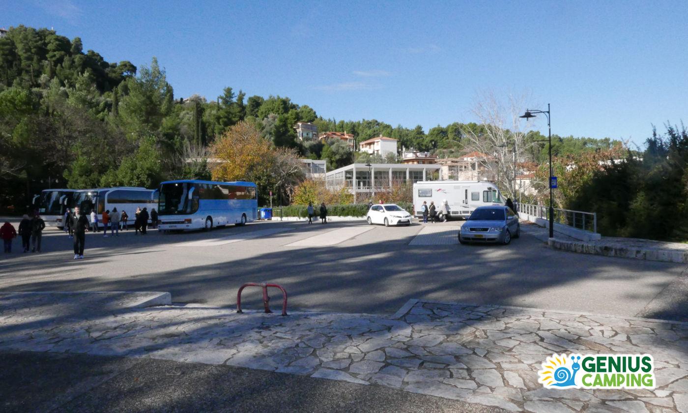 Viaggio itinerante in Grecia gli scavi di Olimpia - Parcheggio Piazzale
