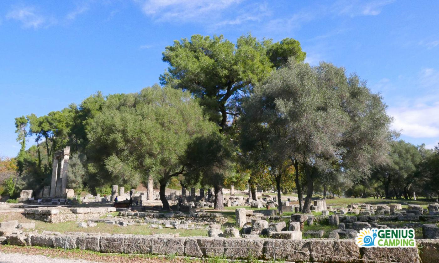 Viaggio itinerante in Grecia gli scavi di Olimpia - Scavi archeologici Olimpia Tempio Era