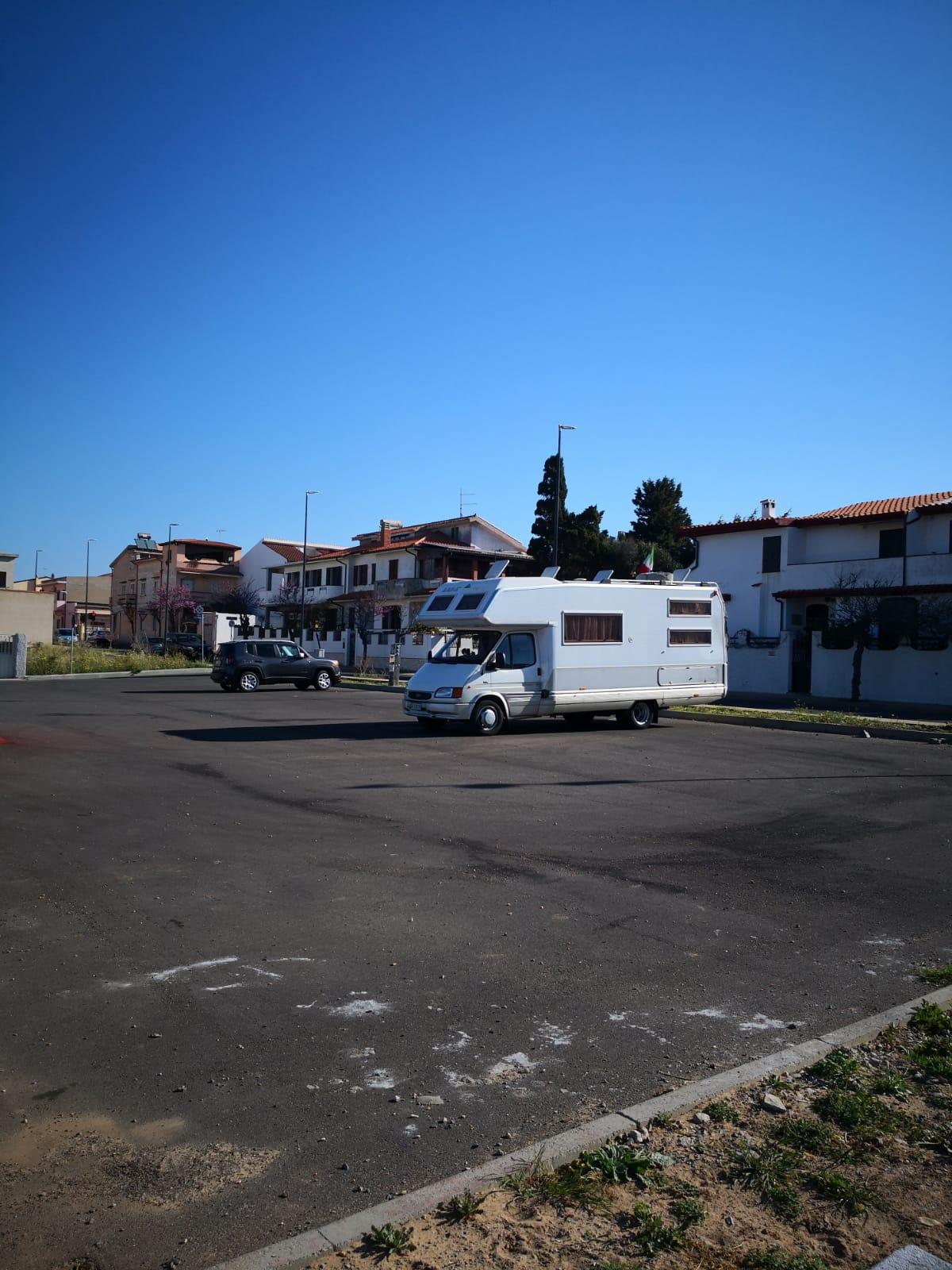 Nuova area camper a Portoscuso in Sardegna - area