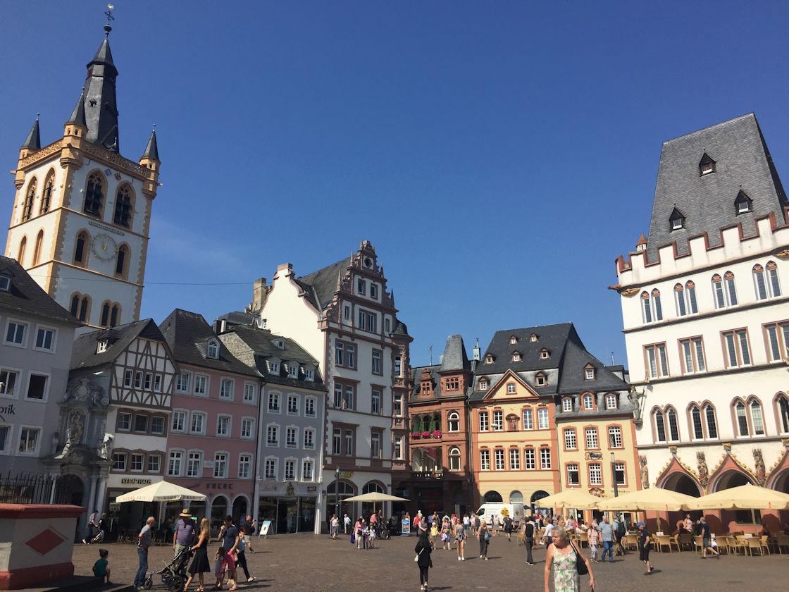 La valle della mosella in camper - Trier piazza centrale