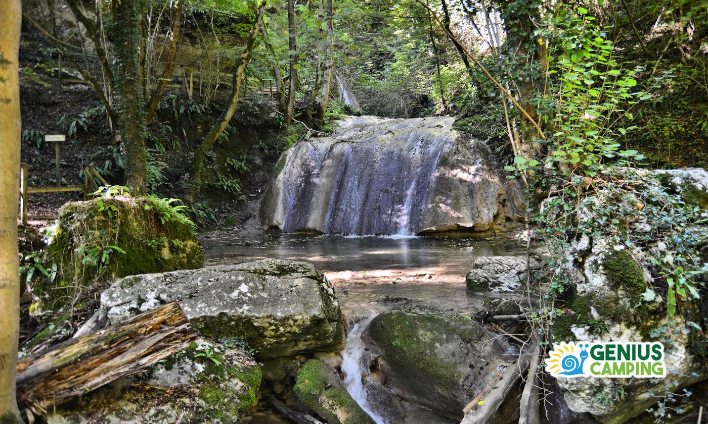 Parco delle cascate di Molina in Valpolicella - Panorama cascatella