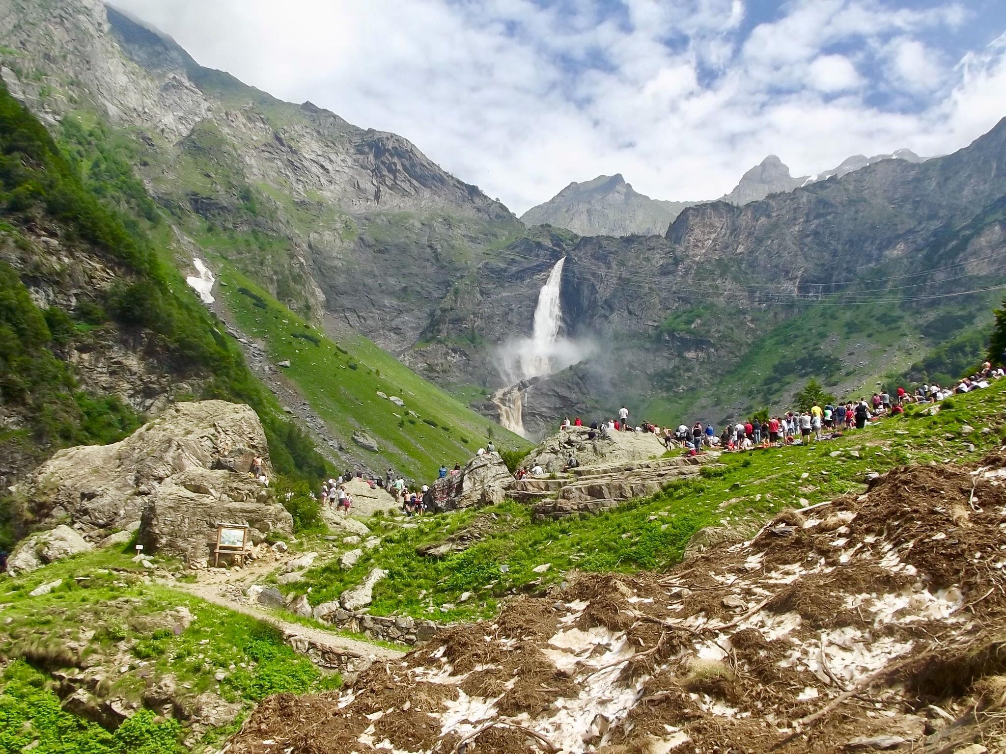 Valbondione e le cascate del Serio in camper - Apertura delle cascate