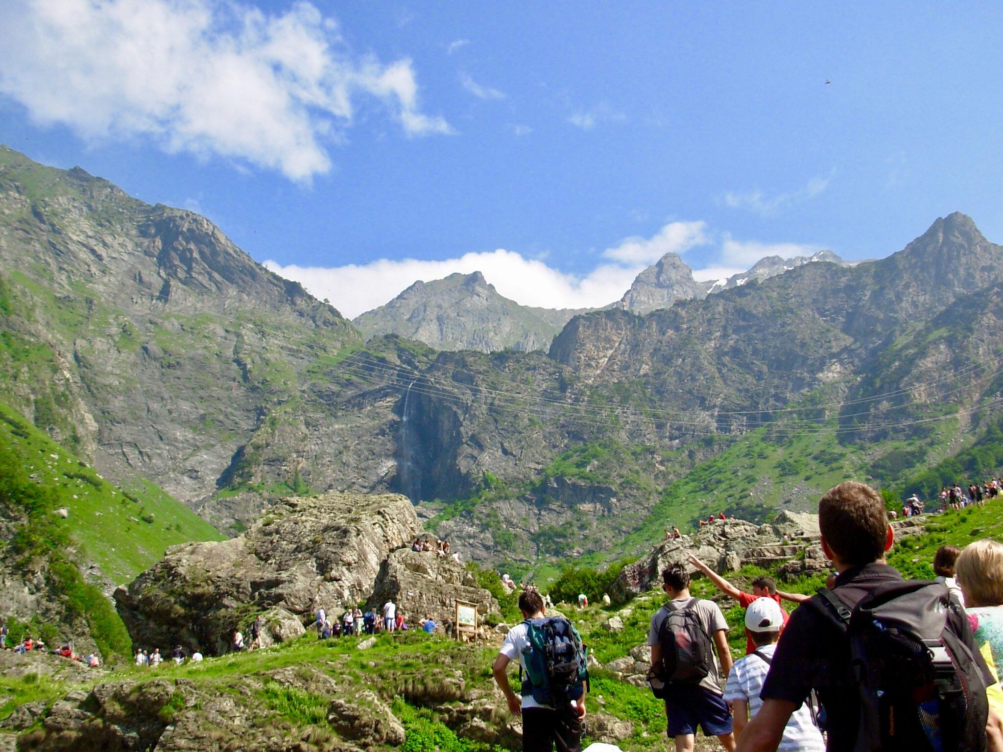 Valbondione e le cascate del Serio in camper - Attesa