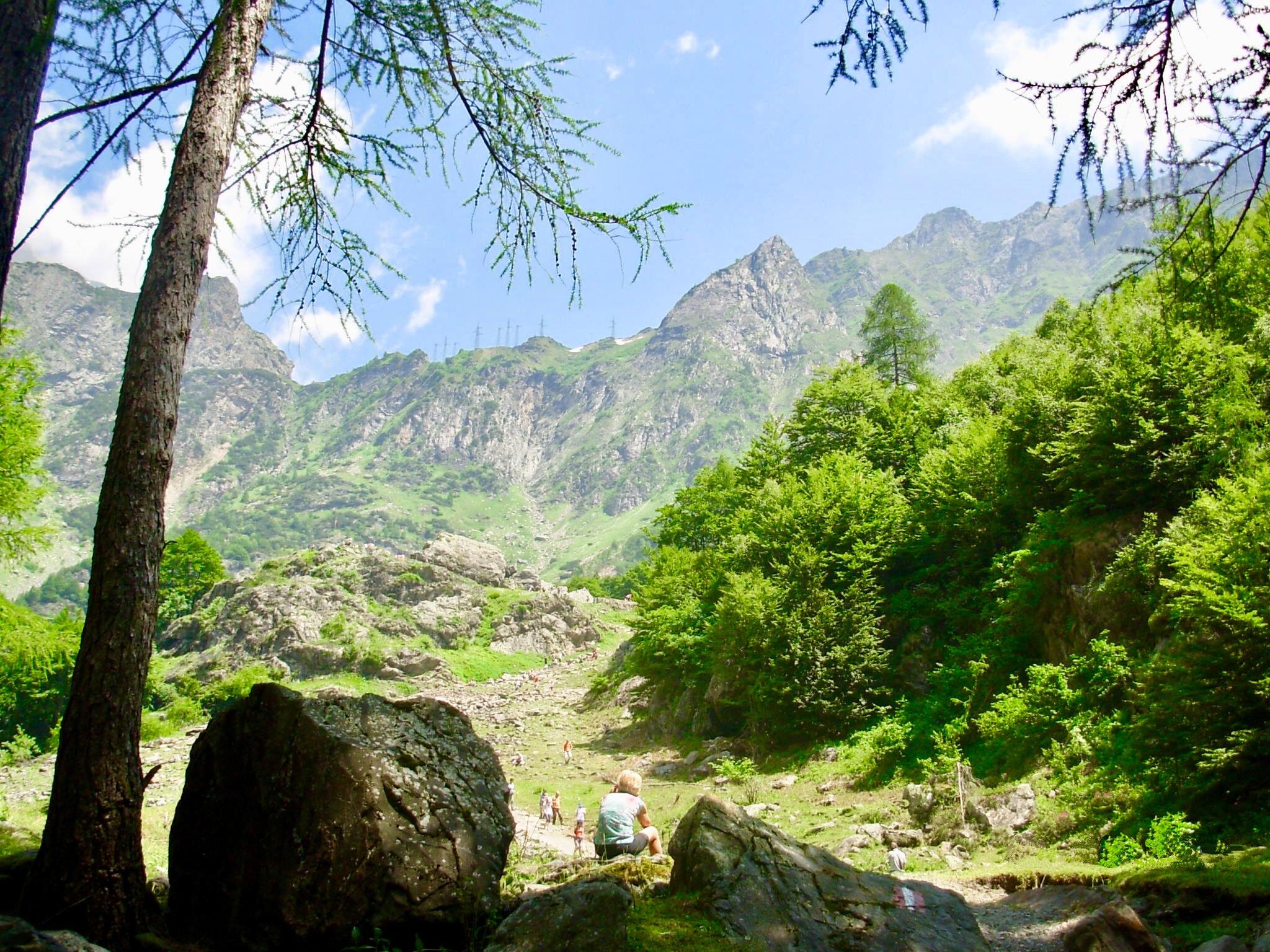 Valbondione e le cascate del Serio in camper - Sentiero per le cascate serio 2