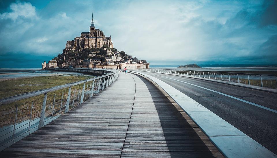 Mont Saint Michel in camper - Nuova passerella